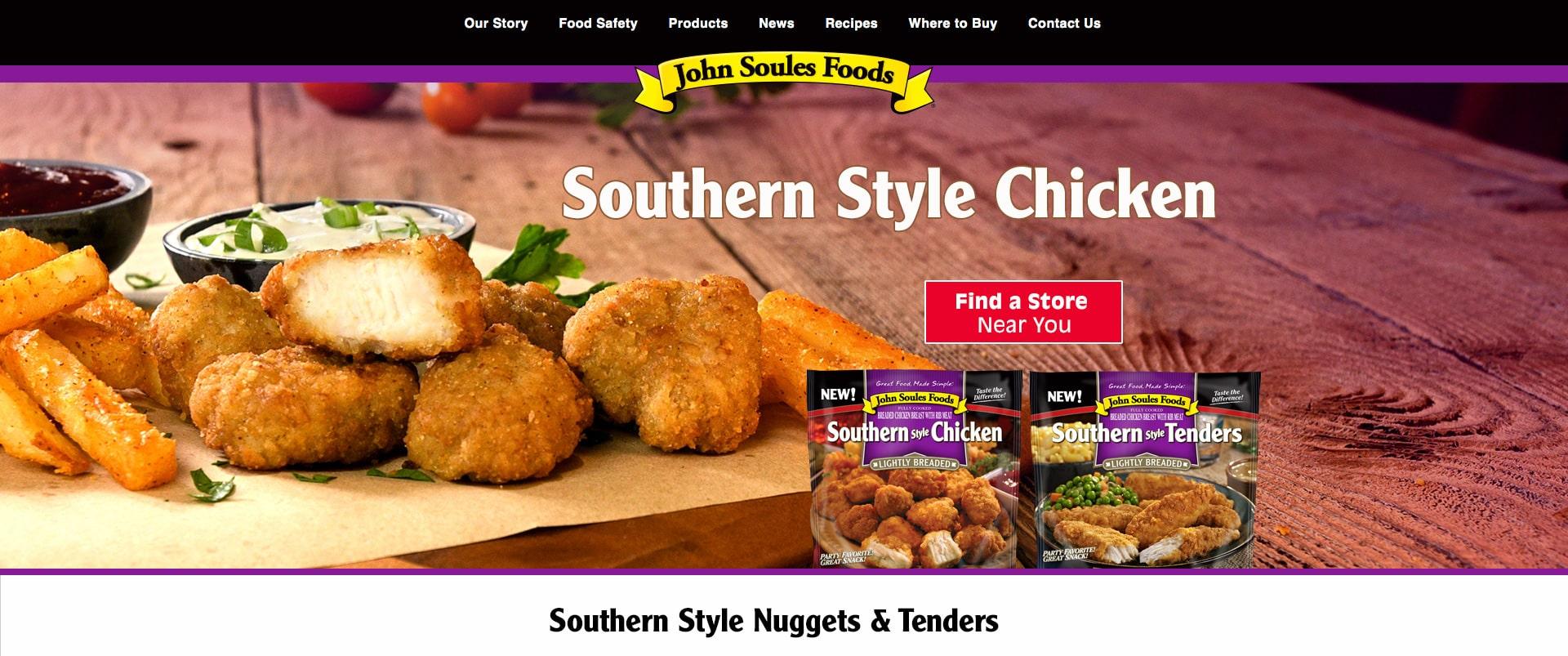 John Soules Foods website