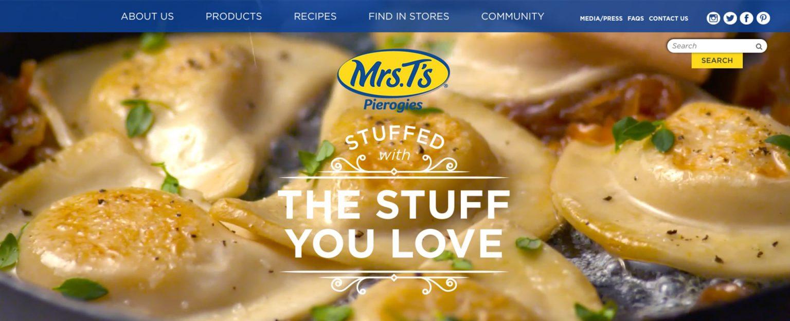 Mrs. T's website screenshot