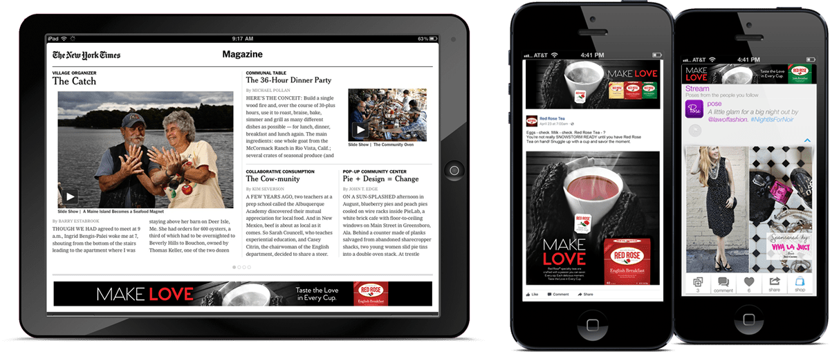 Digital ads on mobile devices