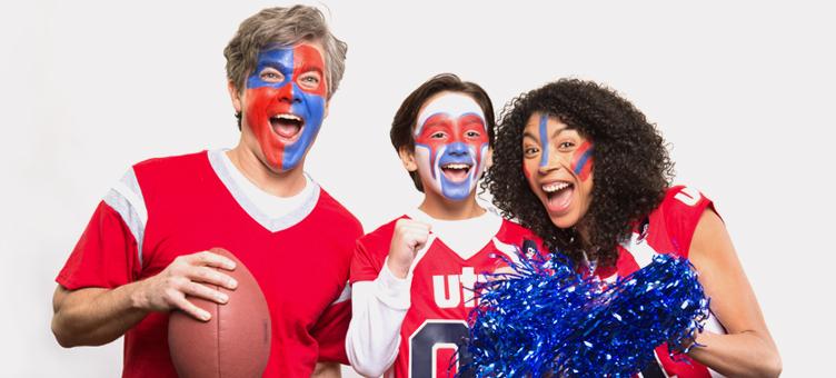 3 sports fans